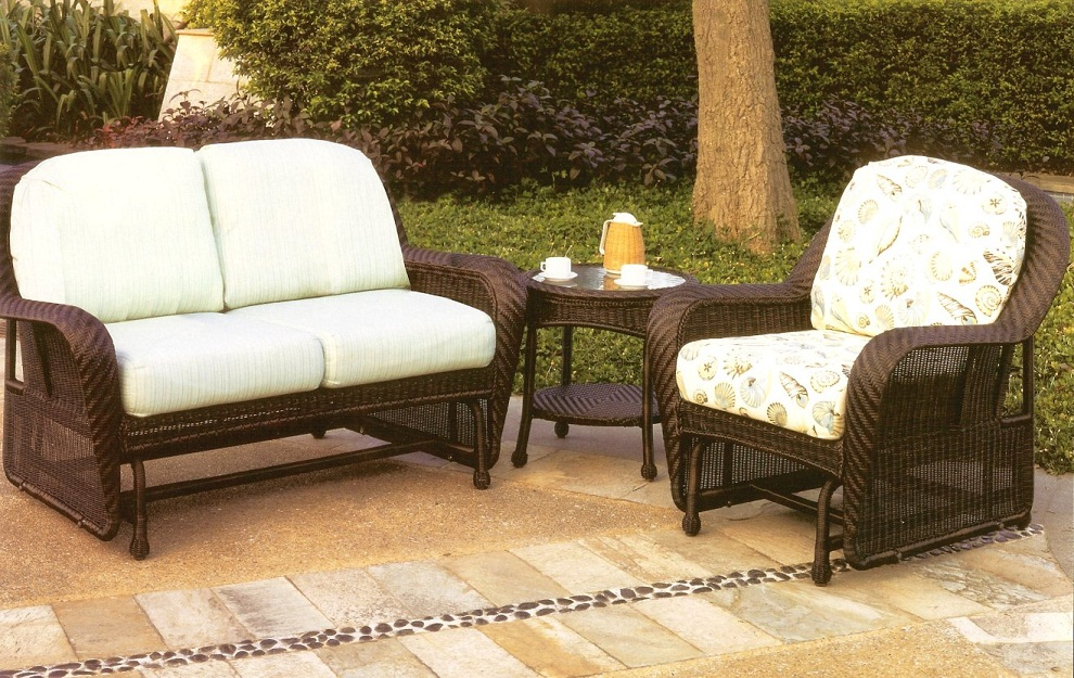 Patio Glider Wicker