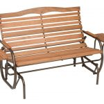 Patio Glider with Trays