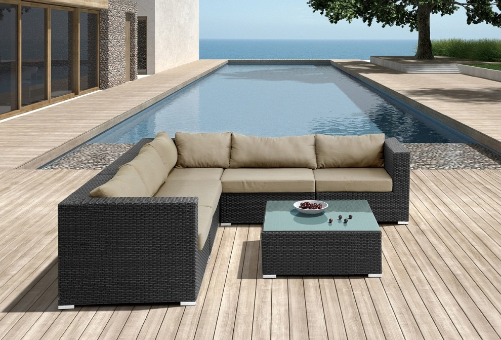 Image of: Patio Sectional Furniture L Shapes