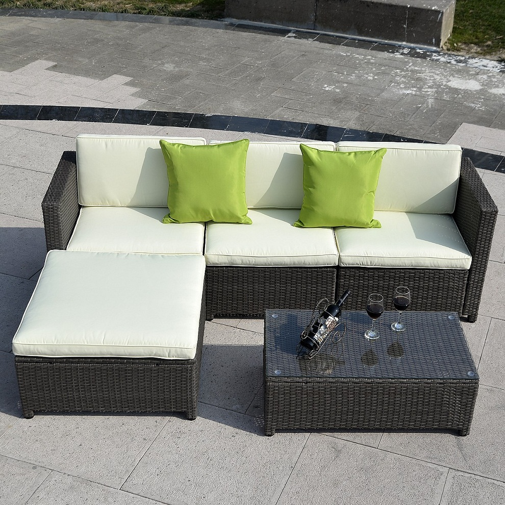Image of: Patio Sectional Furniture Paint