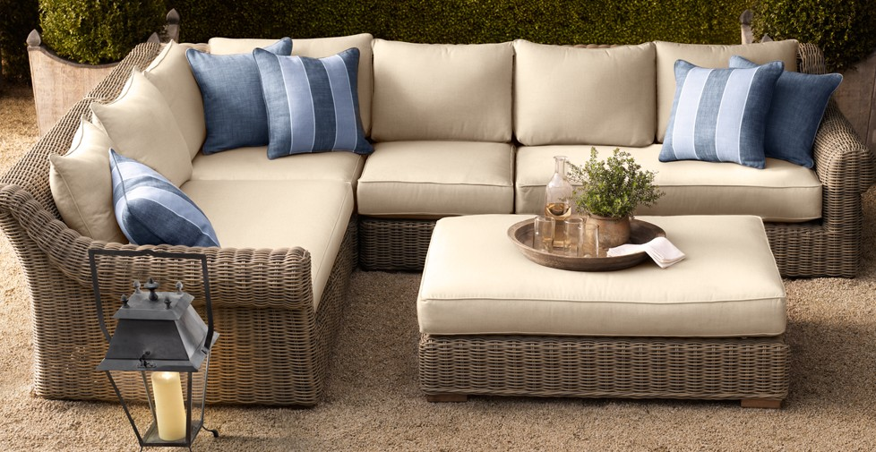 Image of: Patio Sectional Furniture Seating