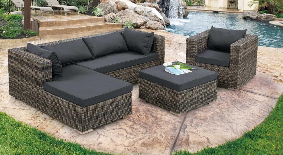 Image of: Patio Sectional Furniture Set