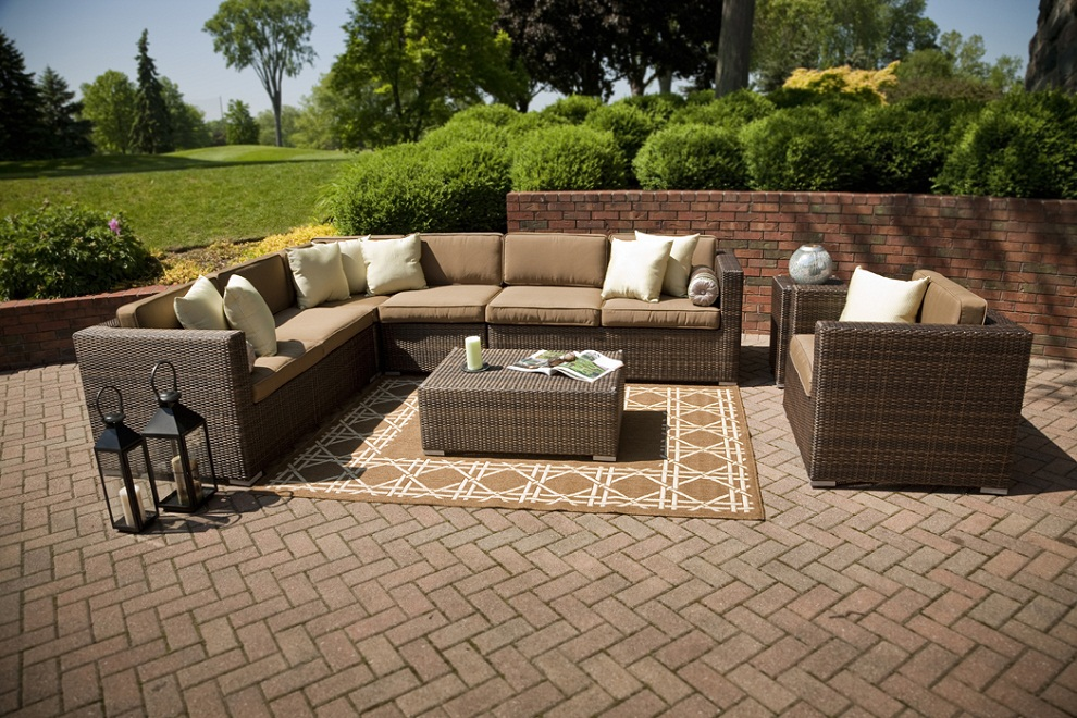 Image of: Patio Sectional Furniture Shapes