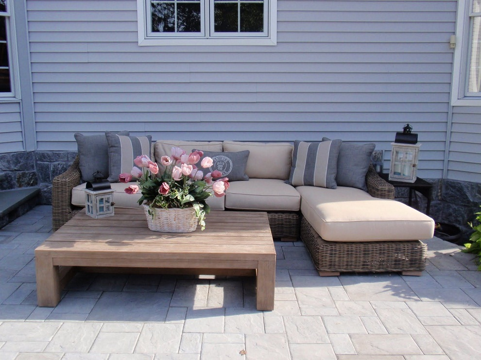 Image of: Patio Sectional Furniture Wicker