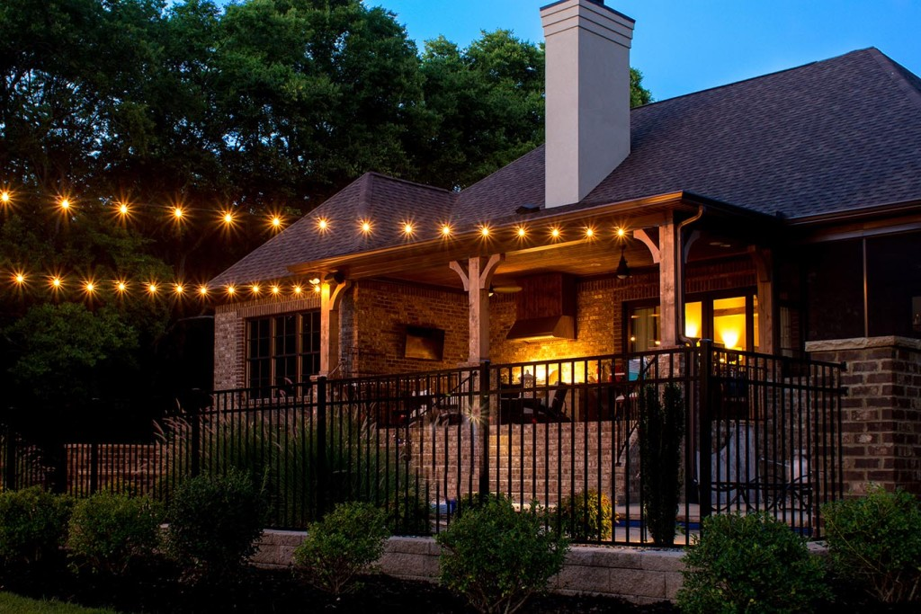 Image of: Patio String Lights Color