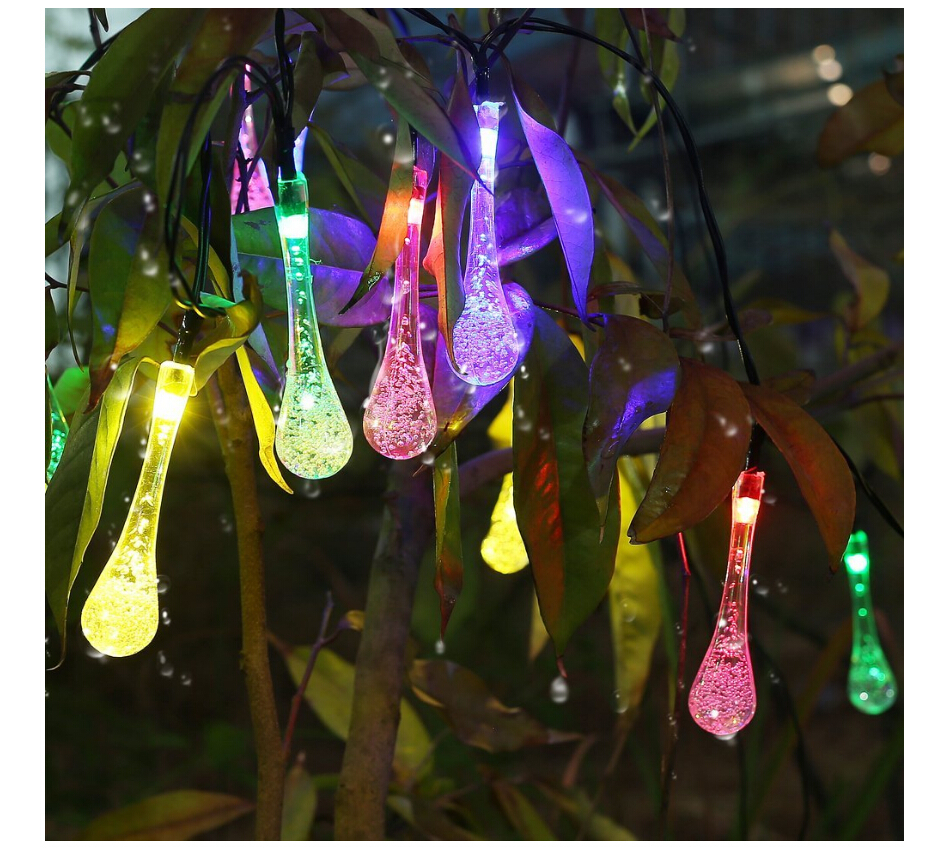 Image of: Patio String Lights Colorful