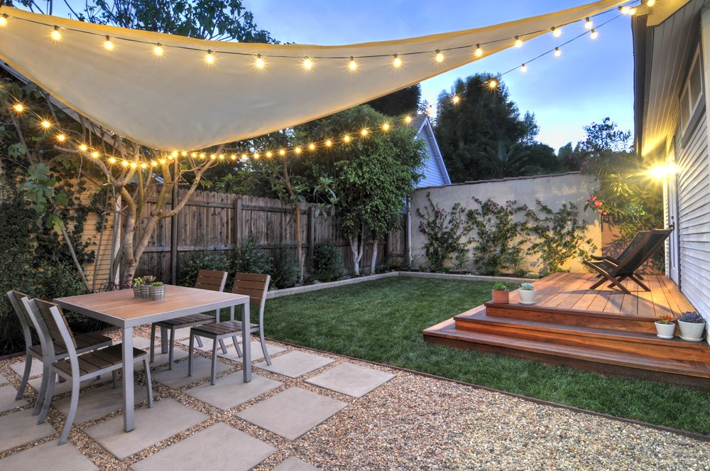 Image of: Patio String Lights Effect