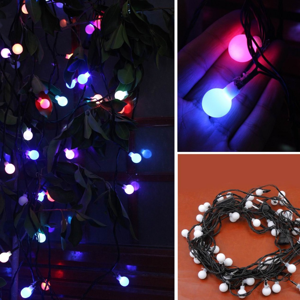 Image of: Patio String Lights Led