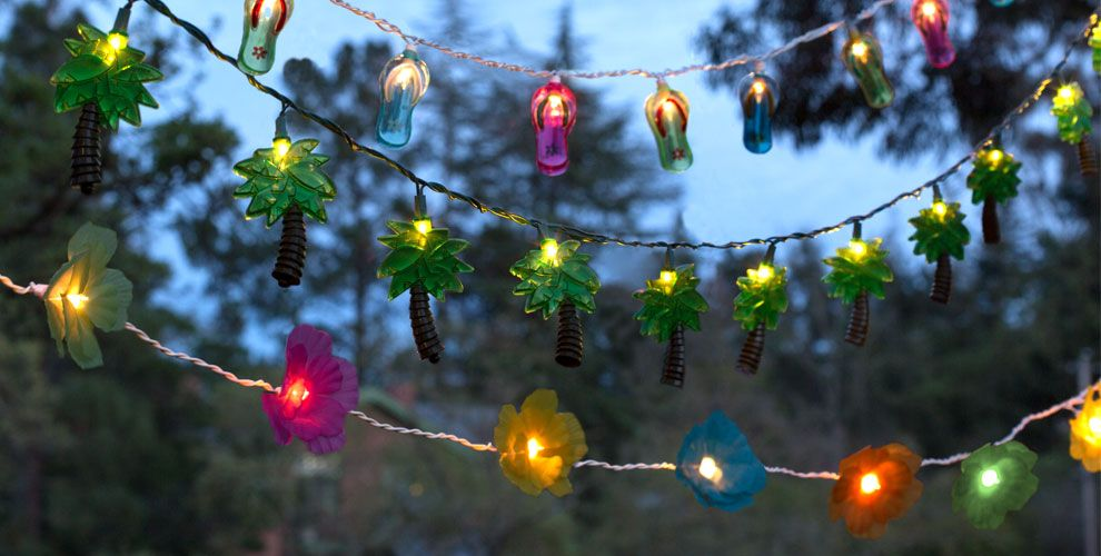 Image of: Patio String Lights Shapes