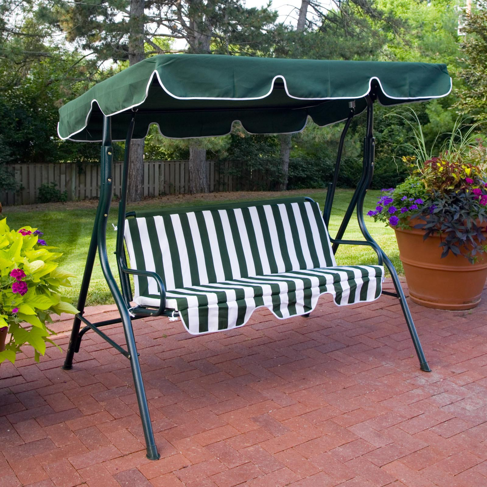 Image of: Patio Swing with Canopy Design