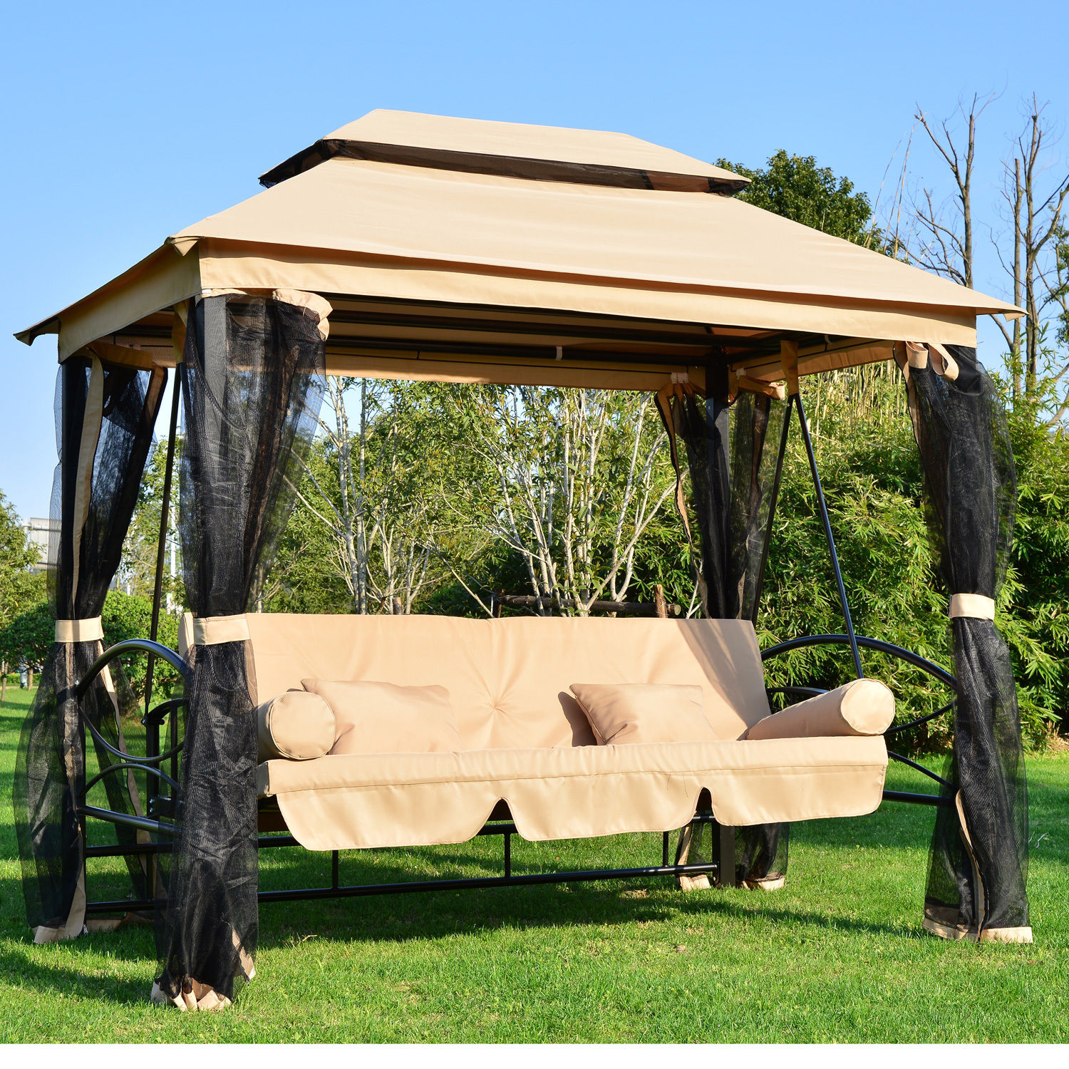 Image of: Patio Swing with Canopy Ideas