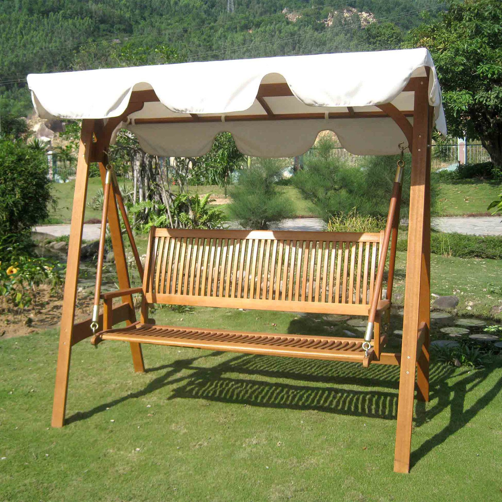 Image of: Patio Swing with Canopy Style