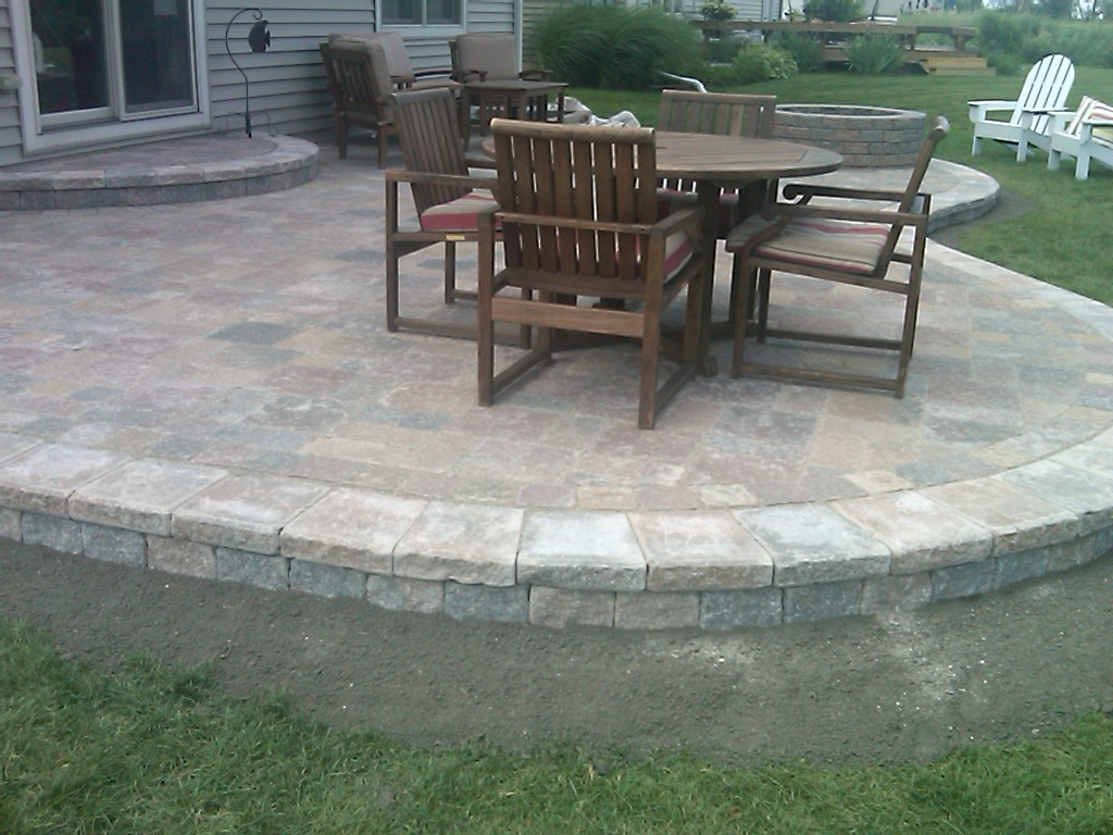 Image of: Paver Patio Finished