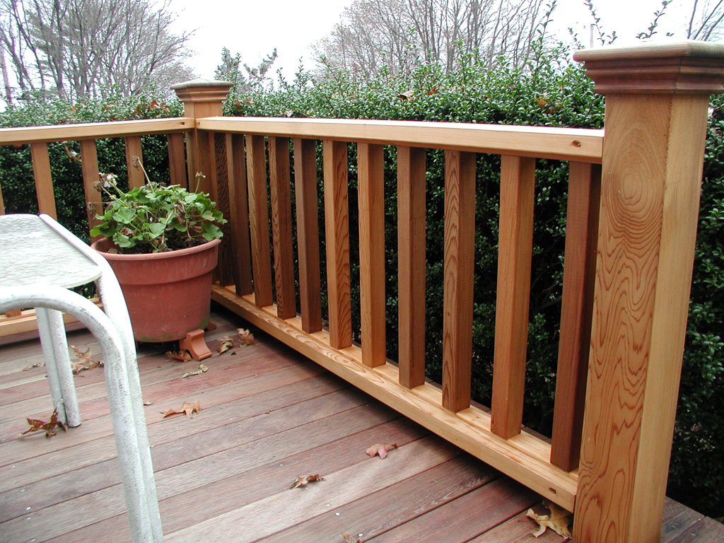 Image of: Perfect Deck Railing Designs