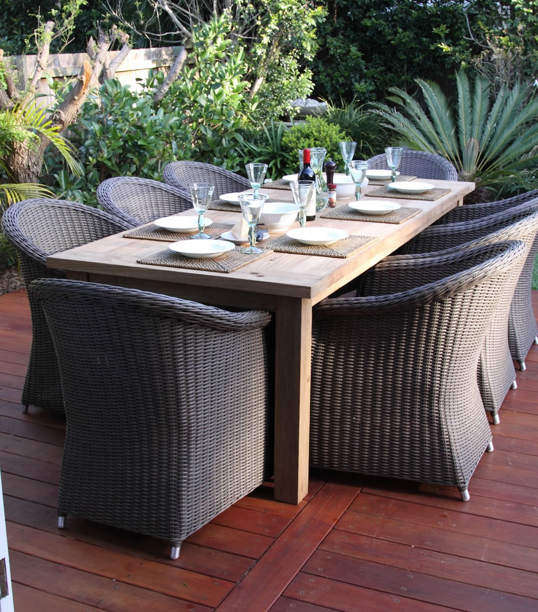 Image of: Perfect Wicker Patio Sets