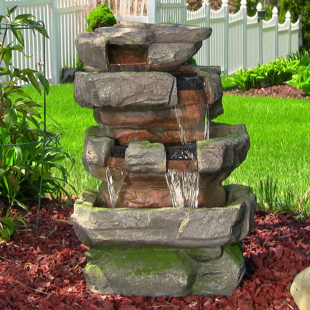 Image of: Picture Of Outdoor Waterfall Fountain