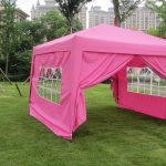 Pink Canopy Tent with Sides