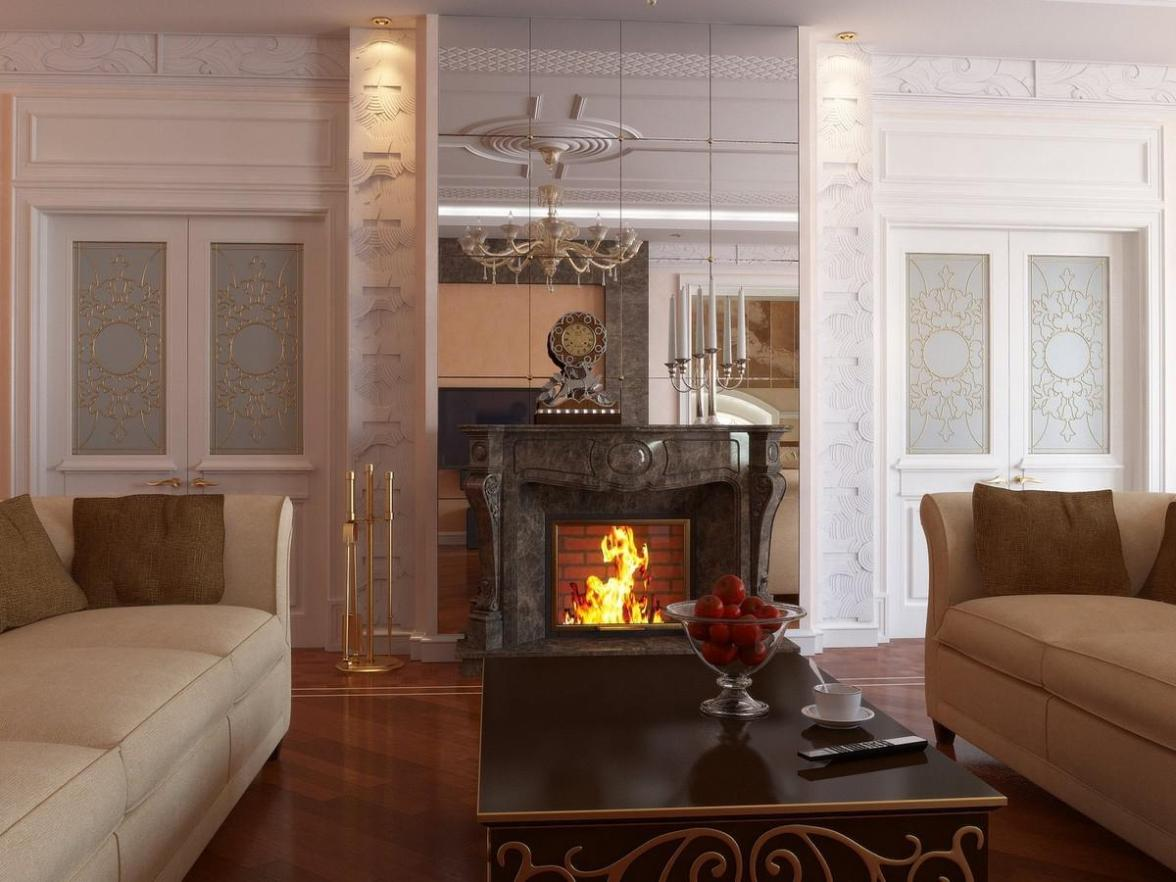 Image of: Polystone Electric Fireplace With Mantel