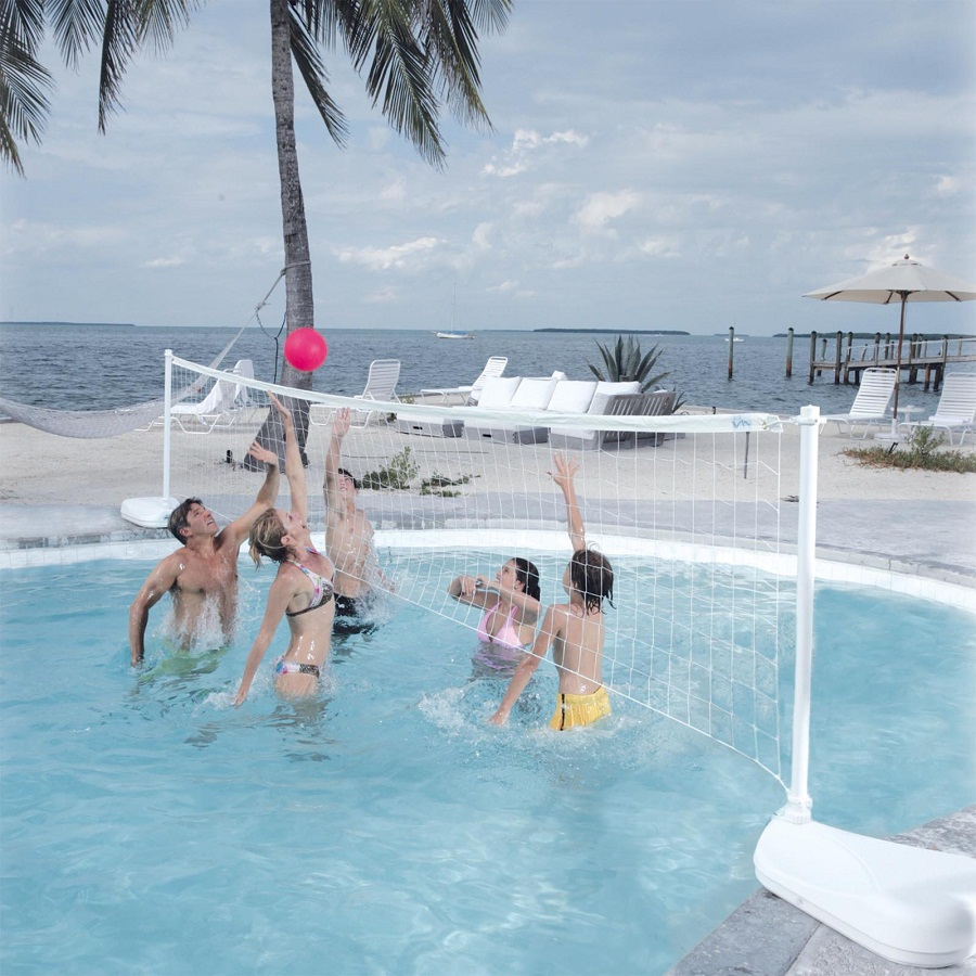 Image of: Pool Volleyball Net White