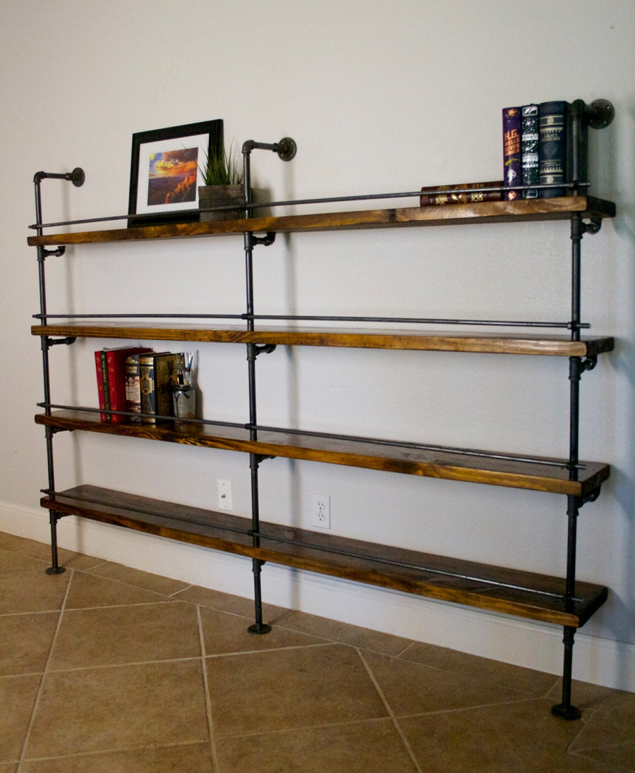 Image of: Popular Industrial Bookcase