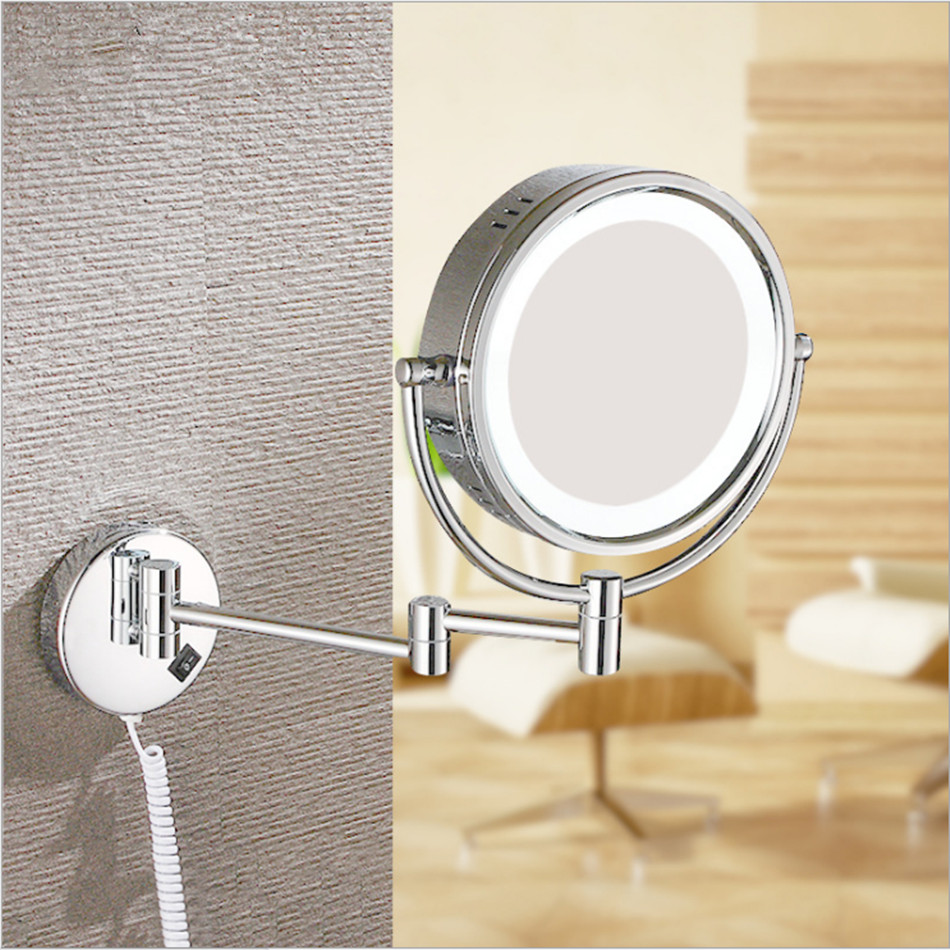 Image of: Popular Lighted Makeup Mirror Wall Mounted
