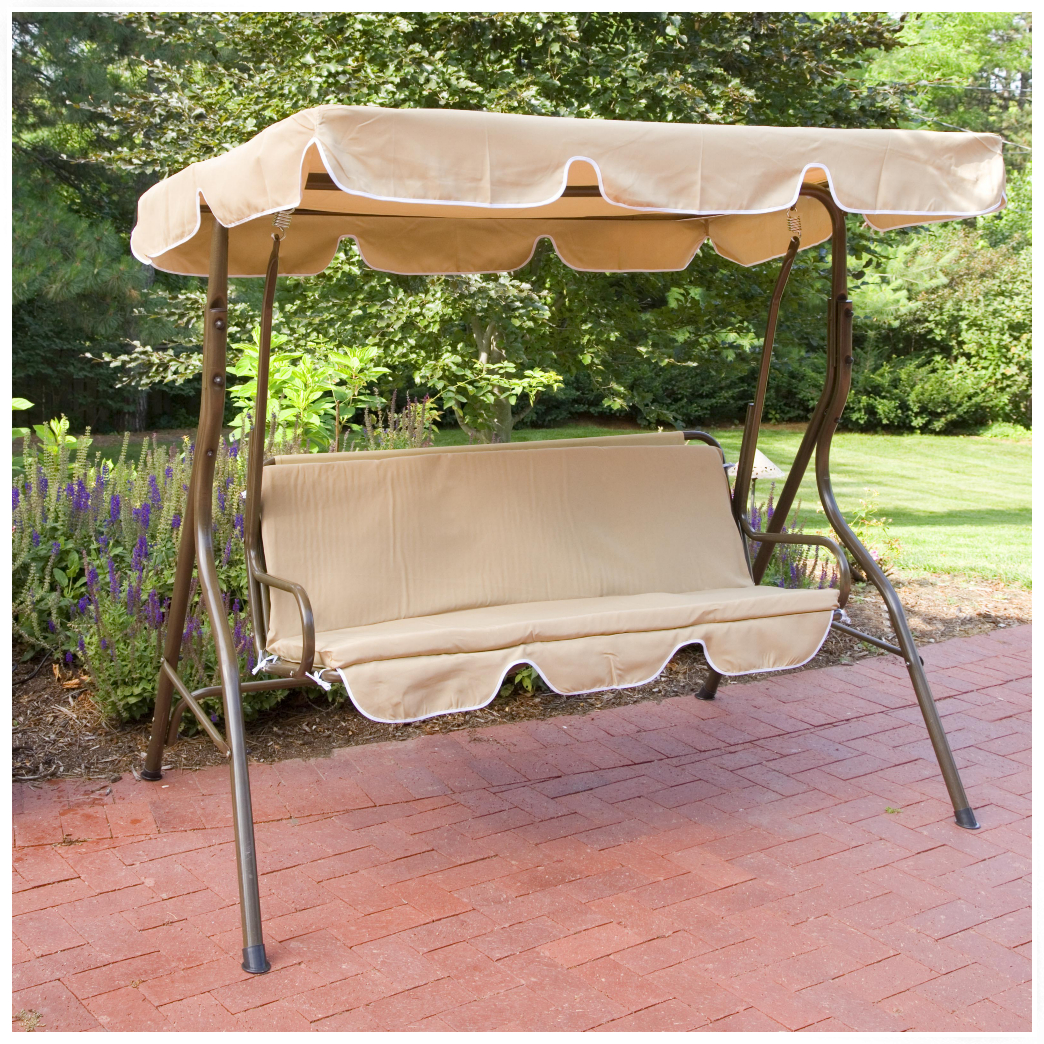 Image of: Popular Patio Swing with Canopy