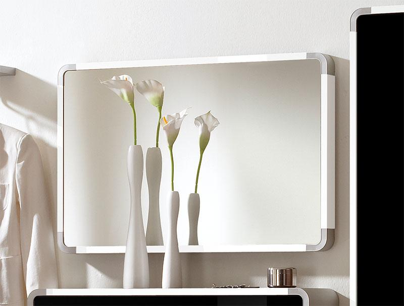 Image of: Popular White Frame Mirror