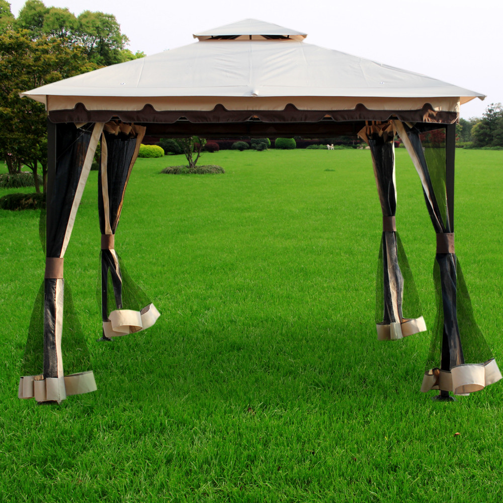 Image of: Portable Gazebo Curtains