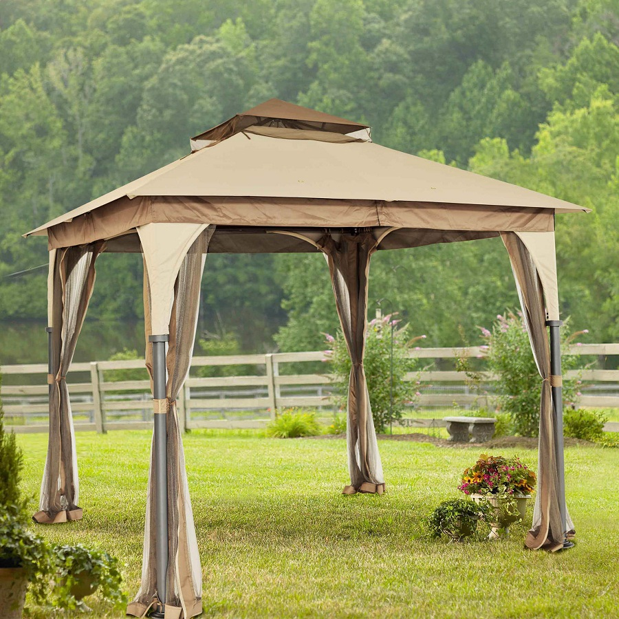 Image of: Portable Gazebo Garden
