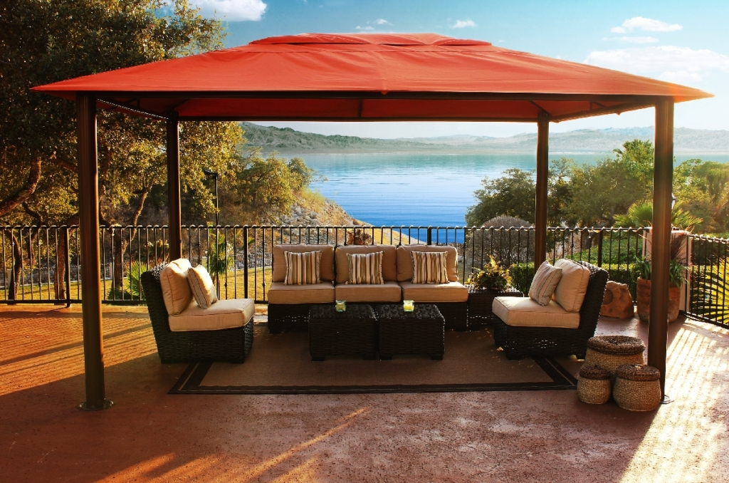 Image of: Portable Gazebo for Deck