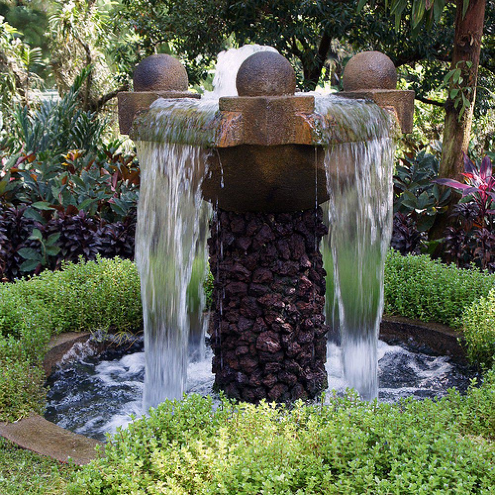 Image of: Pretty Outdoor Waterfall Fountain