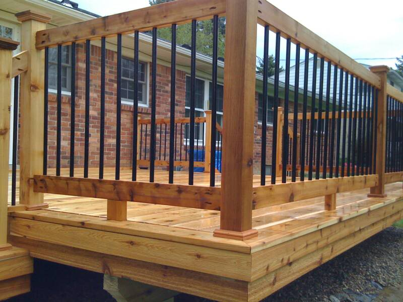 Image of: Project Metal Balusters For Deck