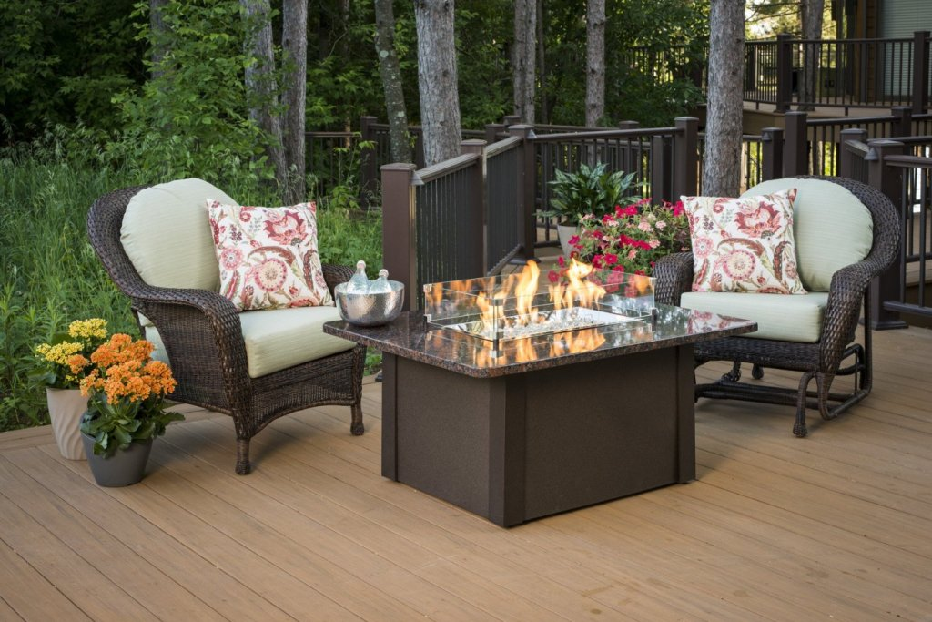 Image of: Propane Deck Fire Pit Designs