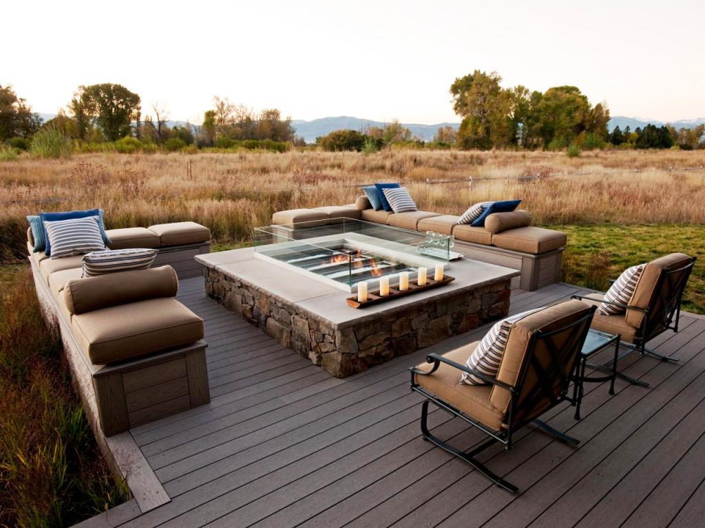 Image of: Propane Deck Fire Pit Outdoor