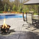 Propane Deck Fire Pit with Pool