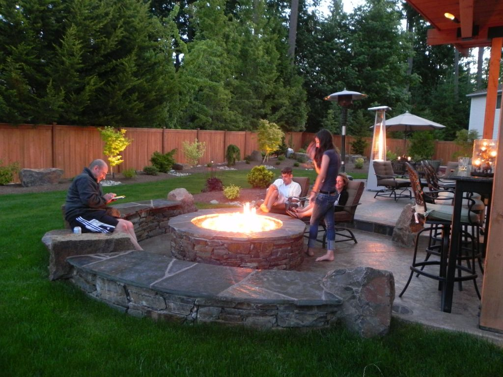 Image of: Propane Deck Fire Pit