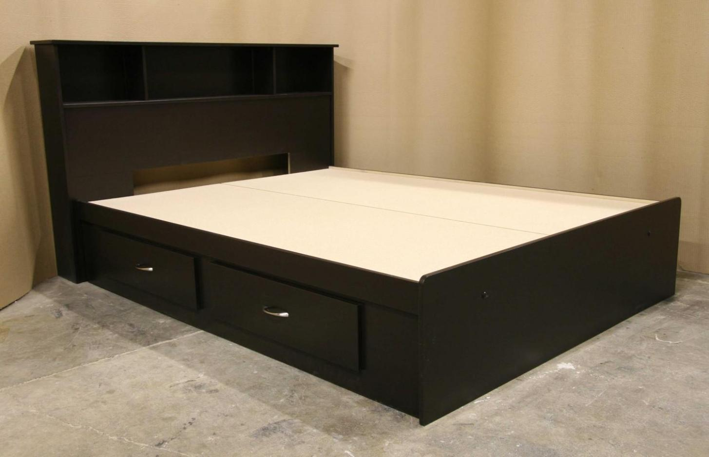 Image of: Queen Bed Frame With Drawers Underneath