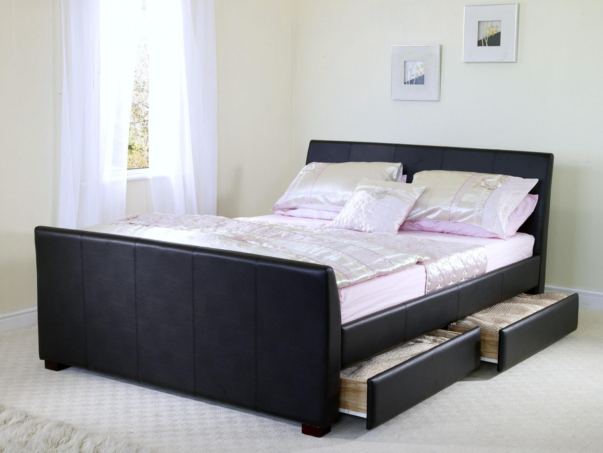 Image of: Queen Size Bed Frame With Drawers