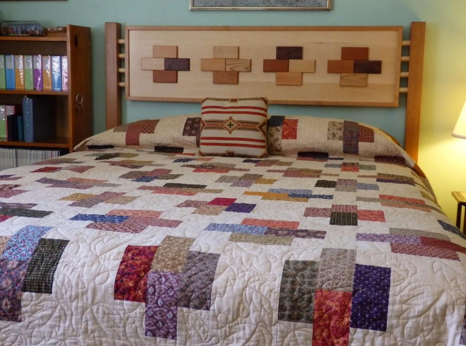 Image of: Quilted Headboard Beds