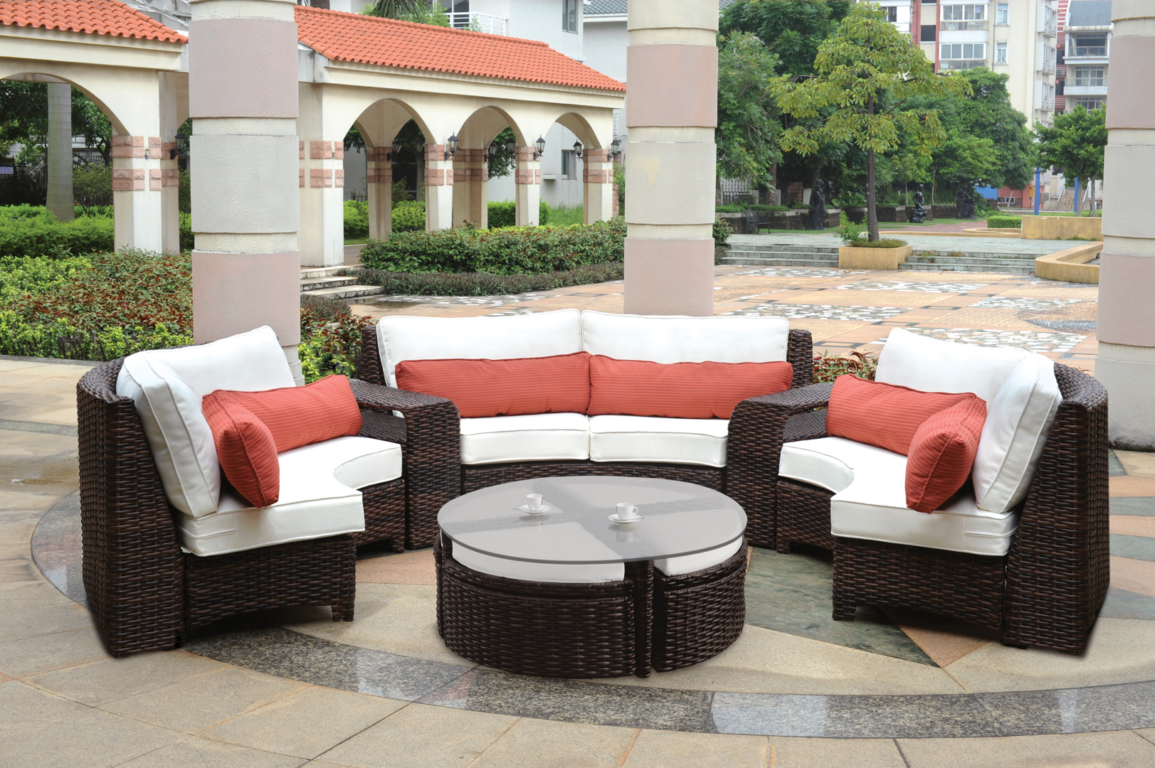 Image of: Rattan Outdoor Sectional Furniture