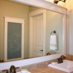 Reclaimed Wood Mirror Frame Bath