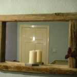 Reclaimed Wood Wall Mirror with Silver Accents