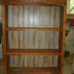 Reclaimed wood bookcase large