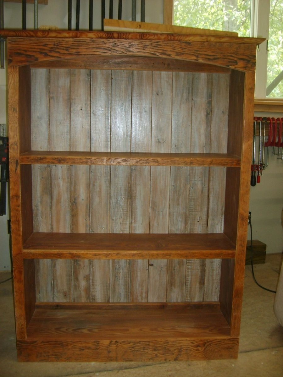 Image of: Reclaimed wood bookcase large