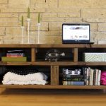 Reclaimed wood bookcase natural
