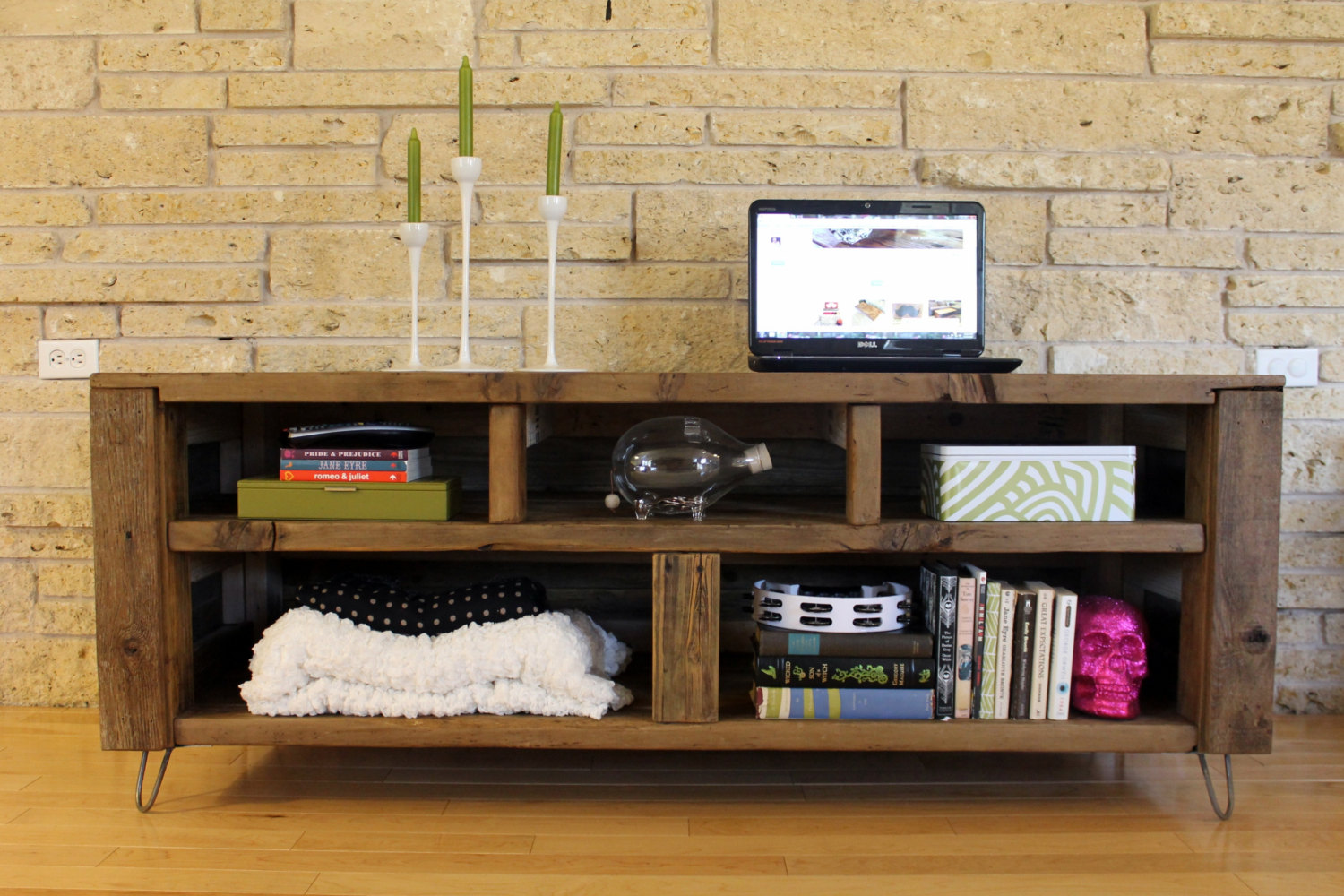 Image of: Reclaimed wood bookcase natural
