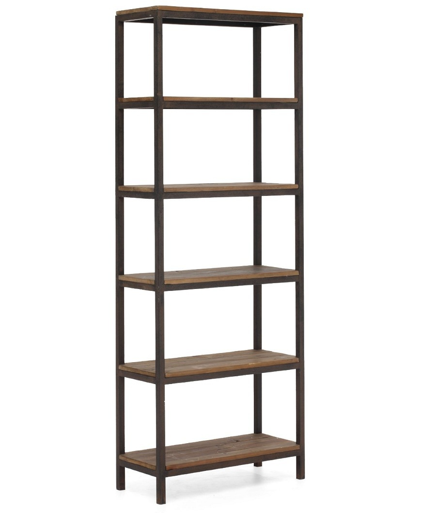 Image of: Reclaimed wood bookcase tall
