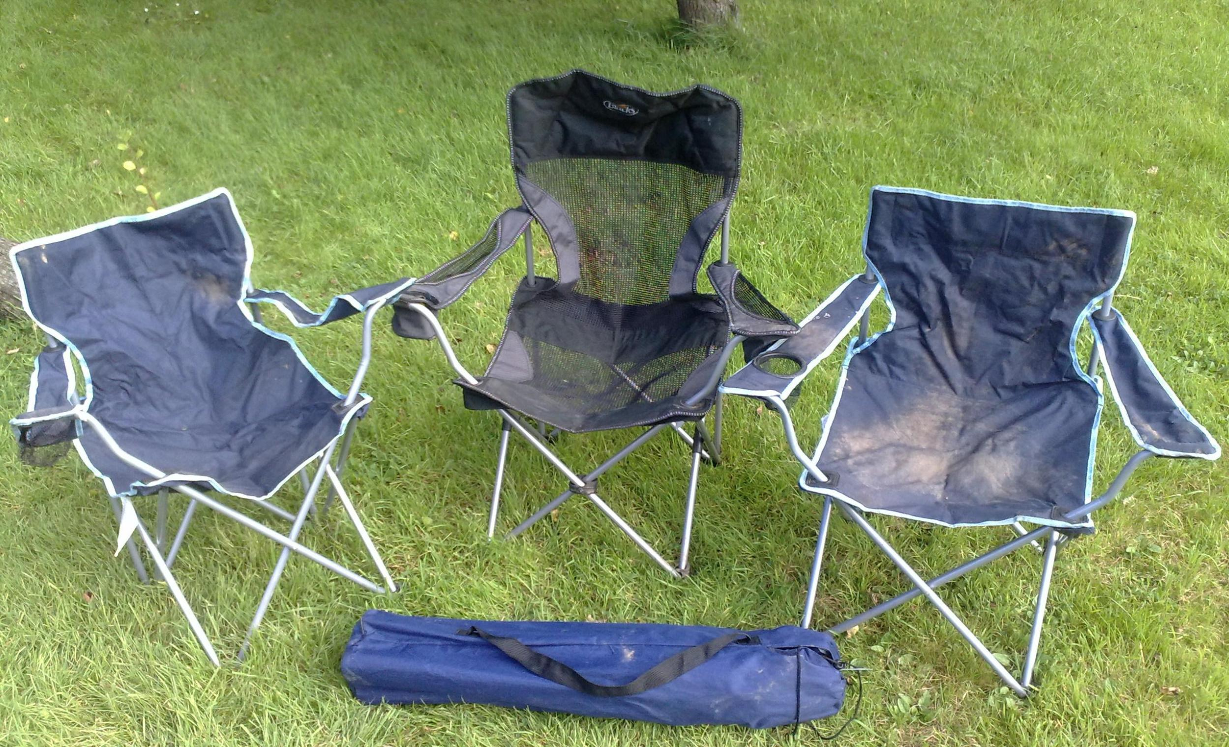 Image of: Reclining Folding Camping Chair