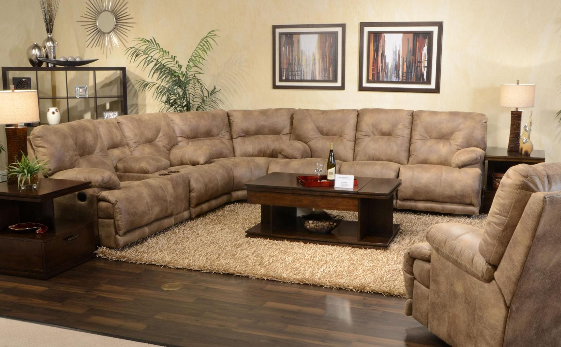 Image of: Reclining Sectional Sofa With Chaise