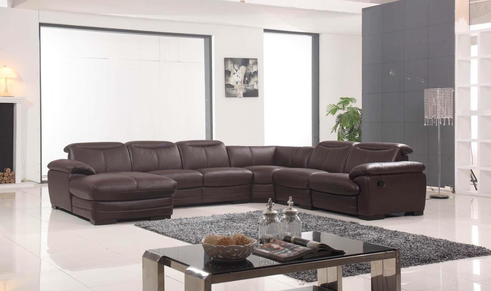Image of: Reclining Sectional Sofas Leather